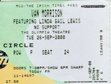 Van Morrison - Original Concert Ticket - The Olympia, Dublin, IRL - 26-Sep-2000
