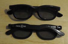 LOT OF 20 NEW POLARIZED RealD 3D Glasses Black For TV Real D 3D Cinemas