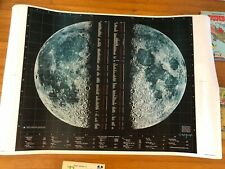 LUNAR MOON SPACE TRAVEL PHOTO POSTER MAP  BY SPACE SCIENCE LAB. ASTROLOGY