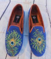 By Paige Loafers Shoes Size 8   Needlepoint Wool
