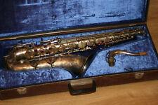 Tenorsaxofon Saxophon Akustik VEB Blasinstrumente DDR spielbereit