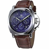 MEGIR 3006 / Japan Quartz Watch / Leather band / Date / Chronograph / GBN2