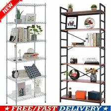 6 Tier Wood Bookshelf Organizer Bookcase Shelving Storage Display Rack Shelf_New