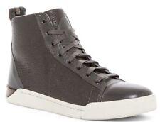 $250 NIB Diesel Tempus Diamond Mid Sneaker Leather BLACK-WHITE Sz 9