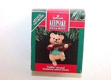 NEW Hallmark Keepsake Christmas Ornament 1991 Fiddlin' Around Bear
