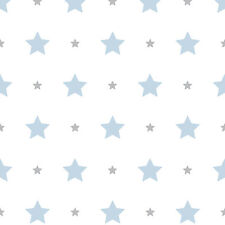 Kids Wallpaper Stars Star Rasch Textil Bimbaloo White Blue 330129 (2 37£/1qm)