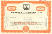 Magnefax Corporation > 1970s Pennsylvania stock share certificate