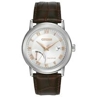 Citizen Eco-Drive Men's AW7020-00A Rose Gold Markers Silver-Tone Dial 41mm Watch