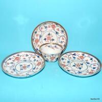 5 Stilt Mark Blue and White Sometsuke 5 34 Dish Rare Antique Hand Painted Imari Genroku Period Porcelain Dish 1688-1703