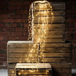 Outdoor Waterfall LED Lights Solar Power Fairy Lights String Party Wedding Decor