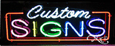 "NEW ""CUSTOM SIGNS"" 32x13 BORDER REAL NEON SIGN w/CUSTOM OPTIONS 10719"