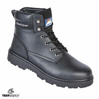 Himalayan 1120 S3 SRC Black Leather Steel Toe Cap Safety Boots Work Boot PPE