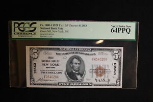 1929 Grace National Bank Note FR #1800-1 PCGS 64 PPQ