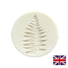 Helecho Hoja Molde de Silicona Molde Veiner Boda Flores Pastel Cupcake Navidad Reino Unido