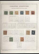 Colonie francesi Em. generali 1859/1944 selezione di usati e nuovi*/**  N1539