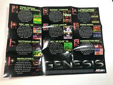 Sega Genesis Acclaim Entertainment 1995 Promo Poster Marketing Insert