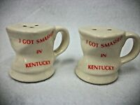 Vintage Kentucky Drunk Mug - Salt and Pepper Shakers  Funny Souvenir