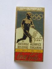 Pin's pin J.O JEUX OLYMPIQUES HELSINKI 1952 OLYMPIC GAMES COCA COLA