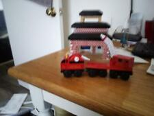 Thomas The Train Wooden Railway Firehouse and trains