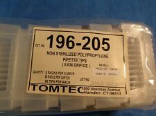 9 PKGS TOMTEC NON-STERILIZED POLYPROPYLENE PIPETTE TIPS (0/036 ORIFICE) #196-205