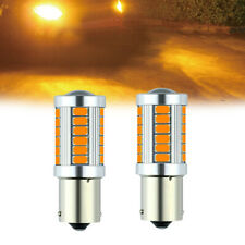2x BAU15S PY21W lED Canbus No Error 33SMD 5730 1156 Led Turn Signal Lights Amber