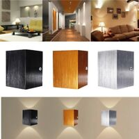 3W LED Wall Light Cube Up Down Lamp Sconce Spot Lighting Home Bedroom Fixture