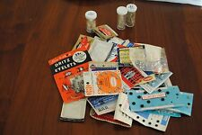 Vintage Lot Sewing Notions Snaps Fasteners Hooks Eyes Loops Eyelets Beads Sequin