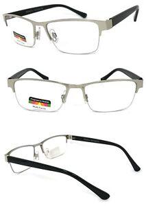 Progressive Reading Glasses 3 Power Strengths in 1 Reader Semi Rimless