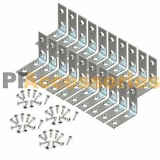 "20 Pcs 1.5"" inch ""L"" Steel Corner Braces w/ Screws Pack LOT Right Angle Bracket"