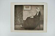 "Vintage Portrait of Whistler's Mother James Abbott McNeill Litho Print 12"" x 10"""