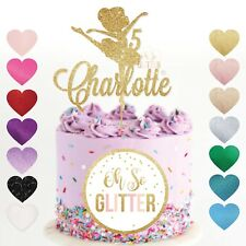 Ballerina cake topper, girls birthday, gold glitter customised, custom dancer