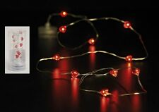 10 pièce chaîne lumineuse LED cœurs rouge saint valentin mariage