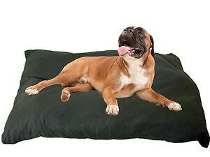 KosiPet® Deluxe Jumbo Size Cushion Style Dog Bed Black Fleece
