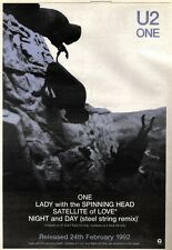 """22/2/92Pgn26 Advert: U2 one B/w Lady With The Spinning Head Island 15x11"""""""