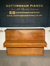 More details for clearance sale beautiful oak 'hermann mayr' upright console piano - can deliver