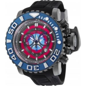 Invicta 25621 Marvel 58mm Sea Hunter LTD ED Swiss Quartz Chronograph Mens Watch
