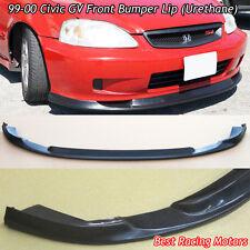 GV Style Front Bumper Lip (Urethane) Fits 99-00 Honda Civic 3dr