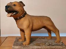 More details for staffordshire bull terrier figureine/ ornament