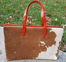 Vintage Lambertson Truex Pony Hair & Leather Purse Pocketbook HG057 NOS