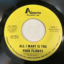 Four Flights: All I Want Is You 45 - Almeria Records - Modern Soul