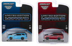 Greenlight 1:64 2018 Dodge Durango SRT MOPAR (Hobby Exclusive) Octane Red / Blue