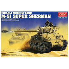 Academy 1 35 Israel Midium Tank M-51 Super Sherman Plastic Model Kit 13254