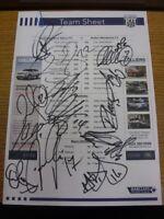 02/10/2010 Autographed Colour Teamsheet: West Bromwich Albion v Bolton Wanderers