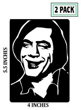 2 PACK ANTON CHIGURH Stickers Vinyl Decal No Country For Old Men Javier Bardem 2
