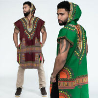 Mens Hipster Hip Hop African Dashiki Hoodie Pollover Tops Blouse Loose T shirts