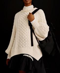 Simone Rocha X H&M HM Chunky-Knit Jumper Cream White Pearl XS S M L Small Medium