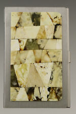 Genuine White BALTIC AMBER Mosaic Credit/Business Card CASE Holder 181002-9