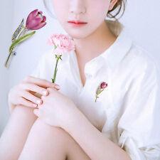 Mujer Broche Flores cristal Tulipán Broches alfileres pines decoración de traje
