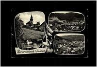 Warmensteinach Fichtelgebirge Mehrbildkarte 1968 Gesamtansicht Blick auf Kirche