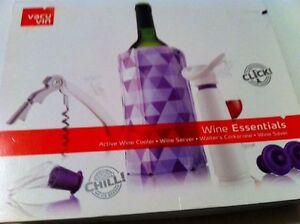 VACU VIN WINE ESSENTIALS ACTIVE WINE Cooler Server Corkscrew And Wine SAVER
